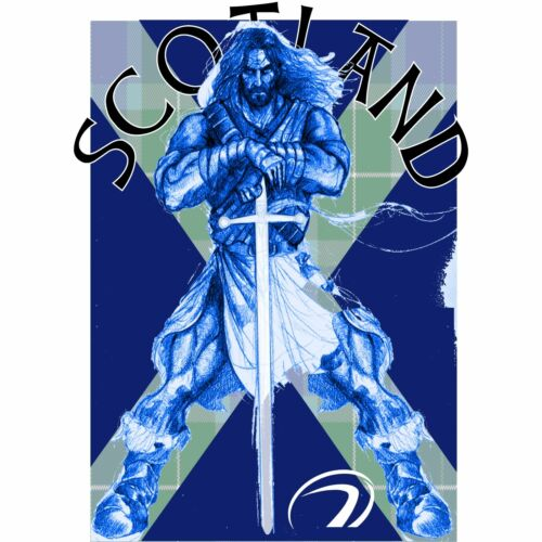 SCOTLAND RUGBY T SHIRT  BRAVEHEART WILLIAM WALLACE SCOTTISH SCOTS NATIONS UNION