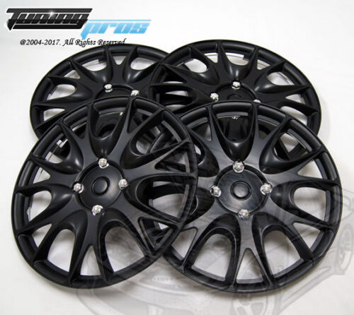 "4pcs Qty 4 Wheel Cover Rim Skin Cover 14/"" Inch Style 533 14/"" Hubcap Matte Black"
