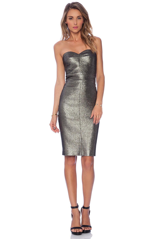 Nuevo Nuevo con  etiquetas para mujer Vestido de Trina Turk Diseñador oro Metálico 10 sin tirantes Volare Usa  Mercancía de alta calidad y servicio conveniente y honesto.