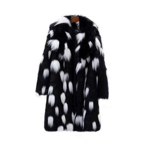 Ny Parka Luksus Furry Tykke Frakker Kvinders Varm Lang Outwear Overjakker Fur Vinter PRwA1Fq