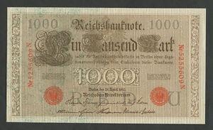 GERMANY-1000-mark-1910-Uncirculated-Banknotes