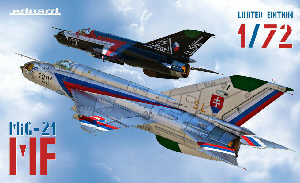 Eduard 2127 1 72nd scale Limited edition MiG-21 MF Czech service dual combo