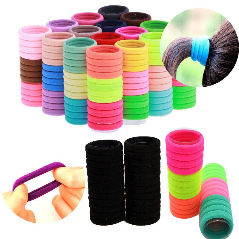 50Pcs Women Girls Hair Band Ties Rope Ring Elastic Hairband Ponytail Holder