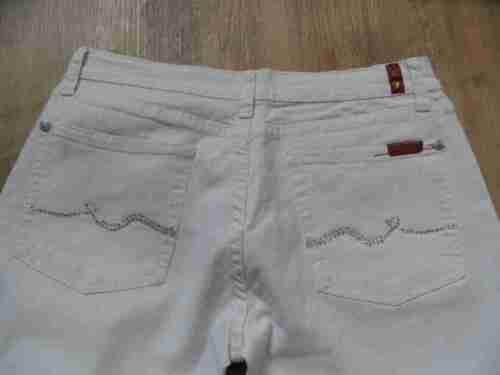 Jeans Bootcut haut Weiß Gr Kos417 Mankind Seven For All 29 M Strass aadqOrw