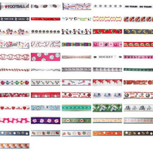 SPORT-Theme-Ribbon-Trim-By-the-yard-great-for-Scrapbooking-amp-Bow-Making