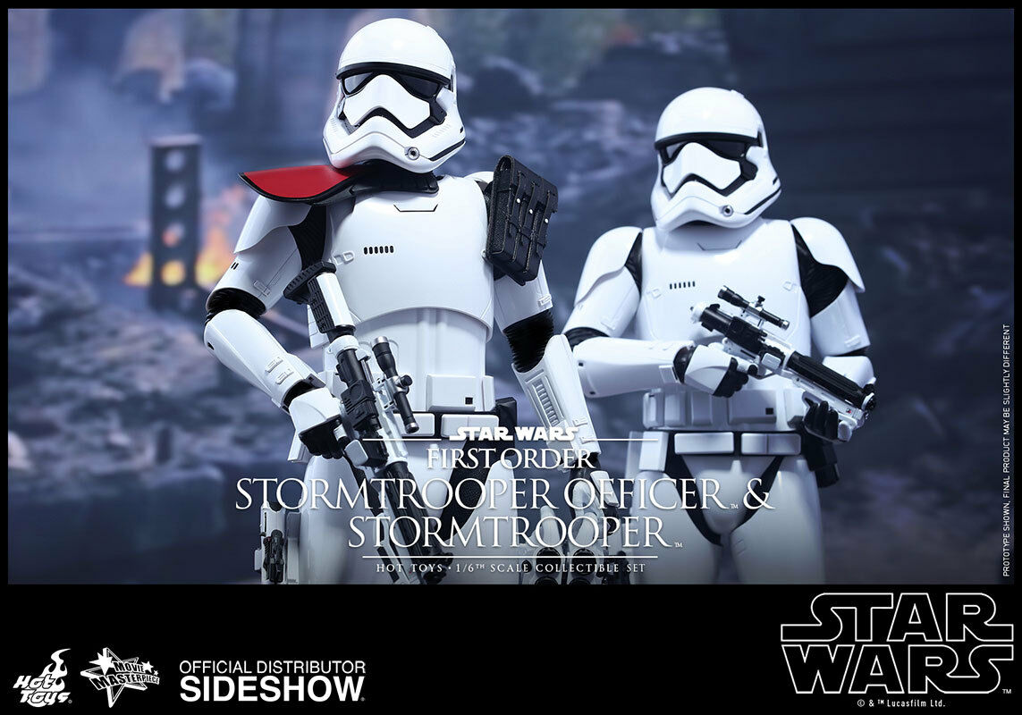 1 6 Estrella Wars Stormtrooper de primer orden y oficial Hot Juguetes 902604