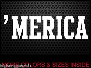 Merica Vinyl Decal Hillbilly Redneck Funny DOWN HOME Truck Car - Redneck window decals for trucks