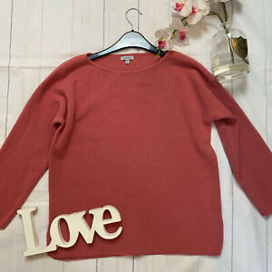 Jigsaw-Size-M-10-12-wool-cosy-think-knitted-jumper-pink-winter-casual-boxy-VGC