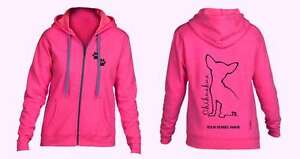 Full Zipped Dog Breed Hoodie outline Chihuahua Exclusive Dogeria Design