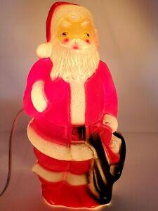 "Vintage Christmas Santa Claus Blow Mold Empire Plastic 1968 13"" Tall Light Up"