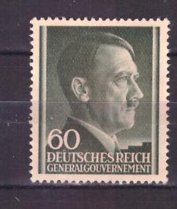 FRANCOBOLLI-Germania-Occupazioni-Polonia-1943-Hitler-60-g-UNI121