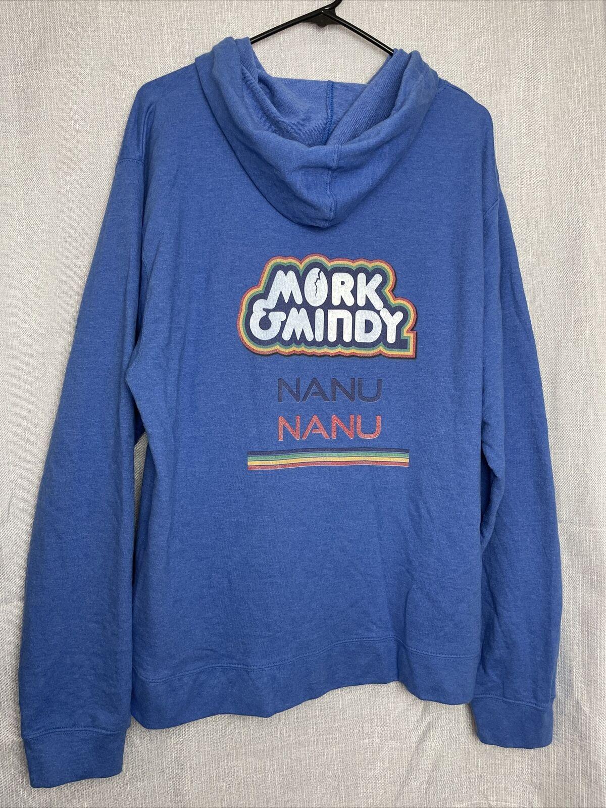 Mork And Mindy Nanu Nanu Blue Sweatshirt Size 2XL… - image 2