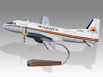 Models Airlines Supply Hawker Siddeley Hs-748 Wasaya Airways Solid Mahogany Wood Handmade Desktop Model Quality And Quantity Assured