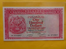 Hong Kong 100 Dollars 31st March 1982 (Choice UNC)