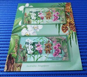 Australia-Singapore-Joint-Issue-Australian-amp-Singapore-Miniature-Sheets-w-Folder