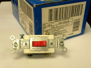 Details about LEVITON SWITCH Red 294-1223-SR 3-Way TOGGLE GROUNDING NIB  (LOT of 10)