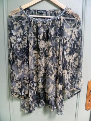 marchio fiori Bella seta sale tunica del 100 wq4IcPS41