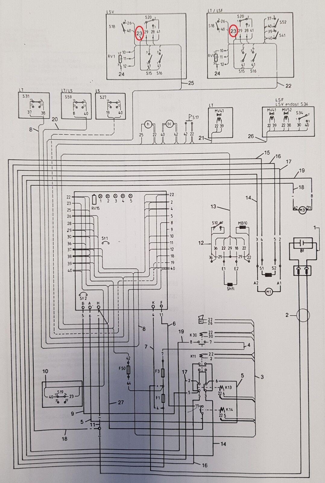 Juego de Cables Apilable BT Lt, Lsf Lsf Lsf , Lsv Tipo-E Transistorsteuerung 106065 220297