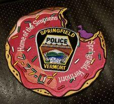 "4/"" x 4 1//4/"" Vermont Dover Police Dept Shoulder Patch"