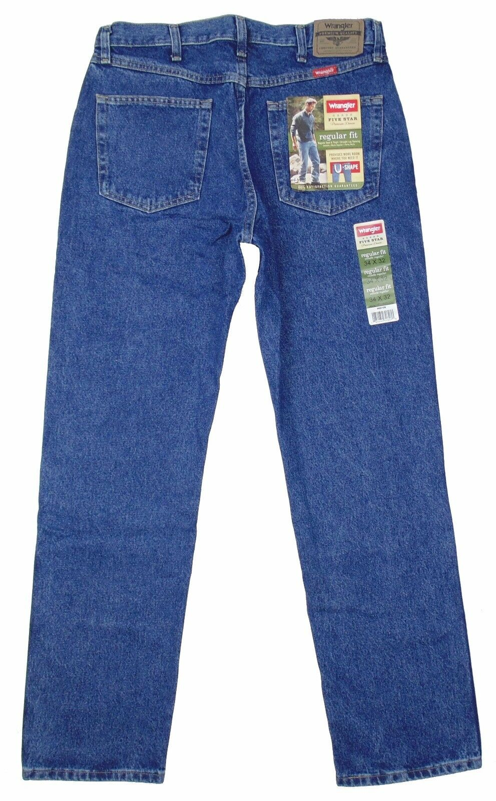 Wrangler Jeans Boys New Size 32 x 30 Regular fit Blue Five Star