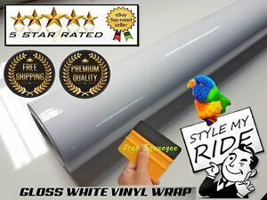 Gloss-White-Vinyl-Wrap-Kitchen-Cupboard-w-Air-Release-Bubble-Free-Easy-Apply