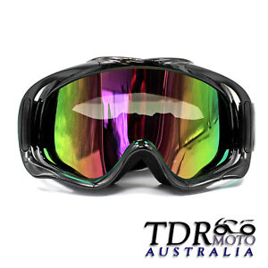 BLACK-Frame-Snowboard-Winter-Snowmobile-Ski-Sports-Winter-GOGGLES-UV-Tinted-Lens