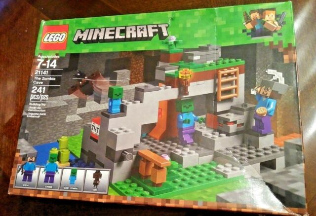 NEW MINECRAFT LEGO THE ZOMBIE CAVE 21141 - 241 pcs Kids Toy Gift