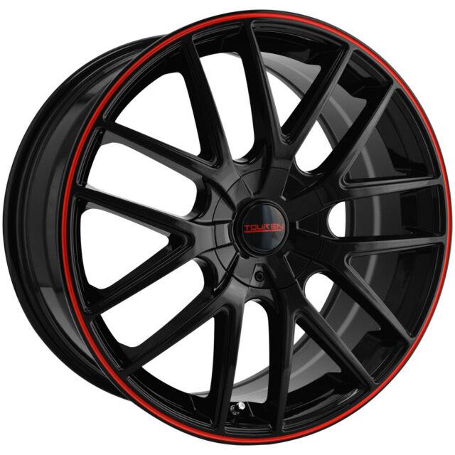 4 Touren Tr60 16x7 4x108 5x108 42mm Black Red Wheels Rims 16 Inch For Sale Online