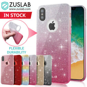 buy online 7cf7e ccd81 Details about iPhone X XS Case 8 8 Plus 7 Rosy Series Flexible Glitter  Sparkle Cover For Apple