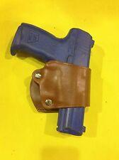Leather YAQUI Style Holster -  H&K USP, P30, P2000, VP9.  (#049 BRN)