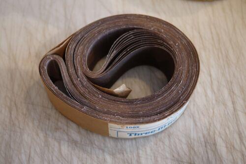 10 PACK 2 1//4 X 80 Inch 100 Grit Aluminum Oxide Multipurpose Sanding Belt