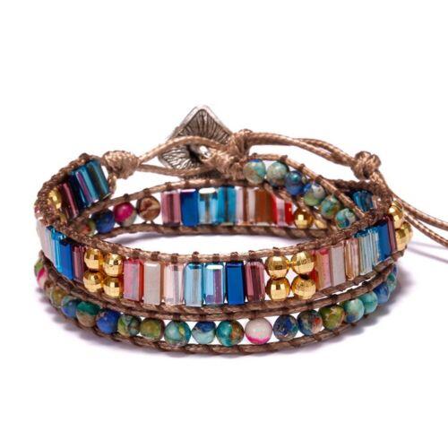Chakra Natürlich Stein Armband Handgemacht Seil Armreif Natur Beads Stein Unisex