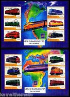 Guinee MNH 2 SS Set, Belgica 2001, train, Engines, Railways