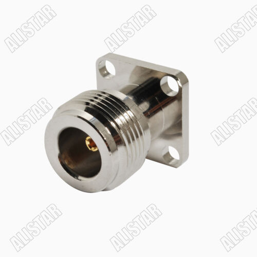 10Pcs N Type jack female 4 Hole panel Mount Jack with solder post RF connector