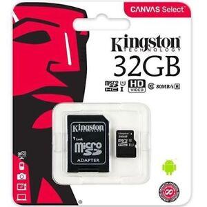 32 Go New Kingston Micro Sd Sdhc Carte Mémoire Classe 10 80mb/s Avec Carte Sd Adaptateur-afficher Le Titre D'origine MatéRiaux De Choix