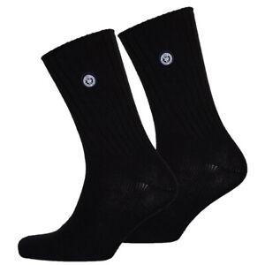 Superdry-NEW-Men-039-s-SD-University-Double-Pack-Socks-Black-black-BNWT