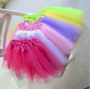 b b fille enfants tutu ballet robe jupe fantaisie f te anniversaire 3 couches ebay. Black Bedroom Furniture Sets. Home Design Ideas