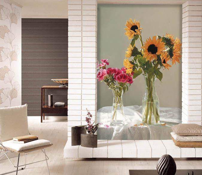 3D Sunflower 947 Wallpaper Mural Paper Wall Print Wallpaper Murals UK Lemon