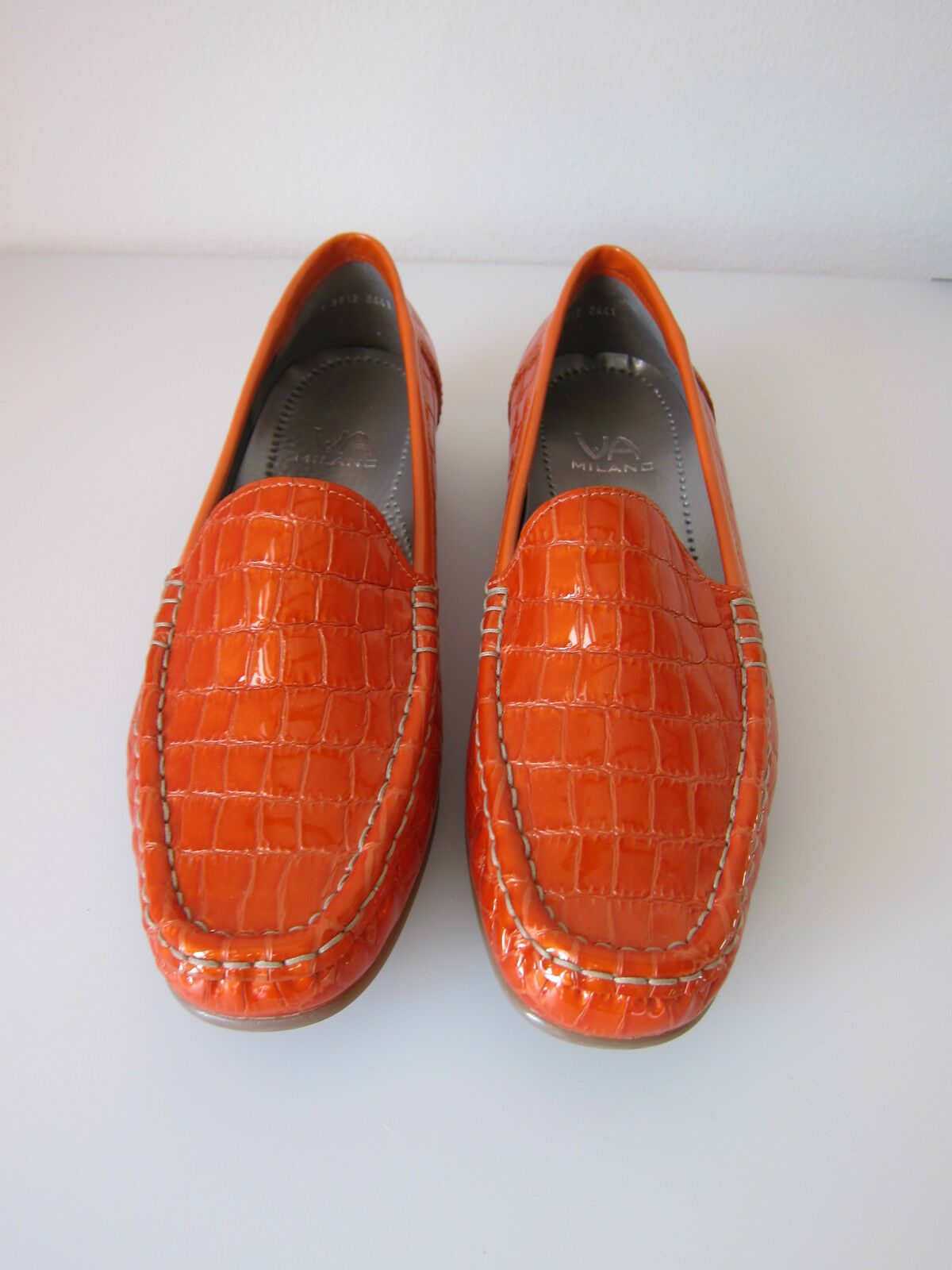 Via Milano Gr. Mokkasin orange Krokoprint Lack Gr. Milano 38 087a35