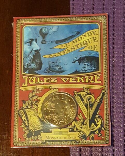 1/4 Quart D'euro 2005 Jules Verne Blister Fleur De Coin Fdc Monnaie Paris Haut Niveau De Qualité Et D'HygièNe