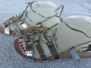Sandalen NEU Weiß Sandaletten Gr: 36,37,38,39,40,41