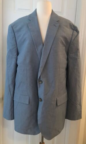 nice J.CREW CROSBY SUIT JACKET IN ITALIAN COTTON OXFORD CLOTH 46L RUSTIC BLUE C4868 save more