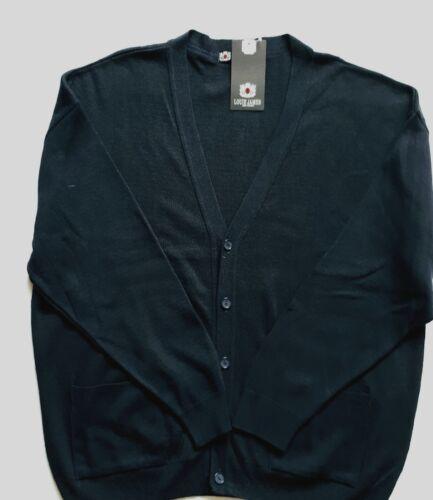 New 4XL Louis James Black V Neck Cardigan