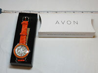 Ladies Womens Girls Avon Faux Crocodile Strap Watch Rhinestones F3727241 Nip;;