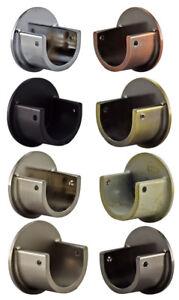Barra-de-cortina-de-28-mm-de-metal-receso-Soporte-De-Pared-Cromo-Negro-Laton-Cromo-Satinado