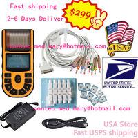 Usa Seller Fda Portable Ecg Machine Ekg Electrocardiograph One Channel,software