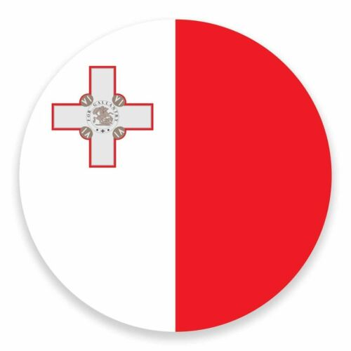 2 X Pegatina de vinilo bandera de Malta Malta Coche Viaje Equipaje #9519