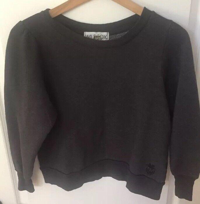 Wildfox Sweatshirt- Dark grau- Small
