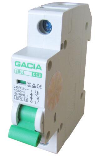 Linea Interruttore sb6l 1p c13a backup sportello automatico MCB