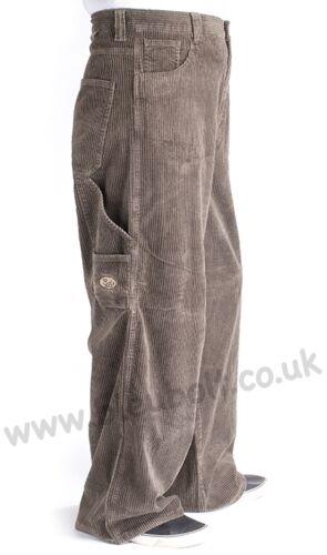 "Bleubolt 24/"" Hem Skater Baggy Carpenter Cords Corduroy Trousers Pants Style 2277"